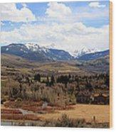 Spring In The Rockies Wood Print