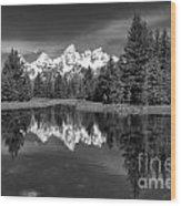 Spring In The Tetons Wood Print