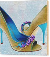 Spring In Your Step Pumps Wood Print