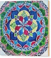 Spring Mandala Wood Print