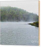 Spring Morning On The Lake Wood Print
