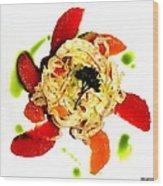 Spring Pasta Wood Print