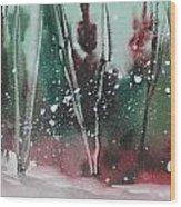 Spring Snowfall  Wood Print