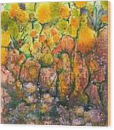 Spring Time Flowers Wood Print