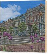 Spring Tulips Downtown Georgetown Wood Print