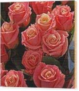 Springtime Roses Wood Print