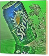 Sprite Splash Wood Print