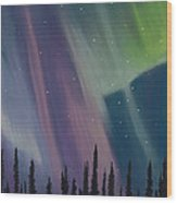 Spruce Silhouette Wood Print
