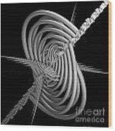 Sput 2 Wood Print by Deborah Benoit