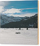 Squaw Valley Panoramic Wood Print