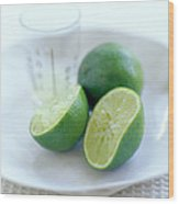 Squeezed Lime Wood Print by David Munns