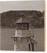 Squirrel Point Lighthouse Wood Print