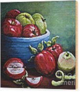 Srb Apple Bowl Wood Print