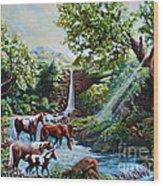 Srb Wild Horses Wood Print