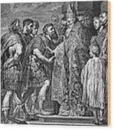 St. Ambrose & Theodosius Wood Print