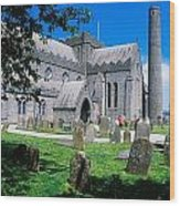 St Canices Cathedral &, Round Tower Wood Print