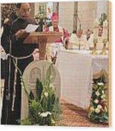 St. Catherine Church Mass Wood Print