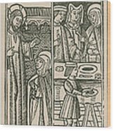 St. Catherine, Italian Philosopher Wood Print by Science Source