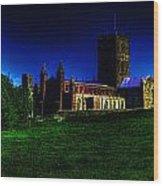 St Davids Cathedral Pembrokeshire Glow Wood Print
