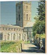 St Davids Cathedral Pembrokeshire Lomo Wood Print