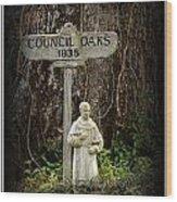 St Francis Wood Print