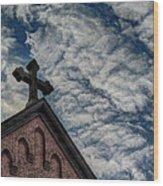 St. George Against The Dragon Wood Print