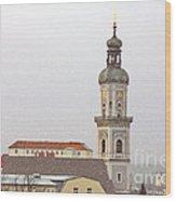 St. George In Snow - Freising Bavaria Germany Wood Print