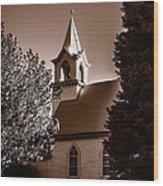 St. John's Lutheran Church In The Trees Wood Print