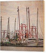 St John's Shrimping Wood Print