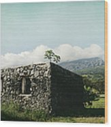 St. Joseph's Church Kaupo Maui Hawaii Wood Print