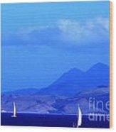 St Kitts Sailing Wood Print