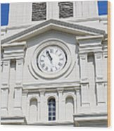 St Louis Cathedral Clock Jackson Square French Quarter New Orleans Wood Print