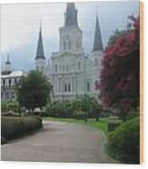 St. Louis Cathedral Ll Wood Print