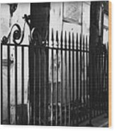St Louis Cemetery Number One Tombs And Wrought Iron Wood Print