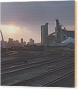 St. Louis: Freight Yard Wood Print
