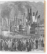 St. Louis: Steamboats, 1857 Wood Print