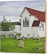 St. Luke's Church In Placentia Newfoundland Wood Print by Elena Elisseeva