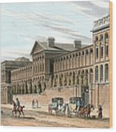 St Luke's Hospital For Lunatics, London Wood Print by Miriam And Ira D. Wallach Division Of Art, Prints And Photographsnew York Public Library