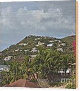 St Maarten Rooftops Wood Print