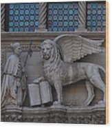 St. Marco And The Lion Wood Print
