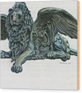 St. Mark's Lion Wood Print