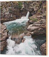 St. Mary Falls Glacier National Park Wood Print