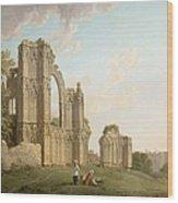 St Mary's Abbey -york Wood Print