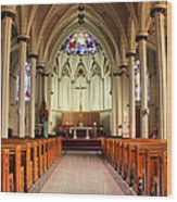 St. Mary's Basilica Halifax Wood Print