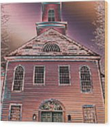 St. Mary's Episcopal Church In Pastel Wood Print