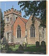 St Marys Harefield Wood Print