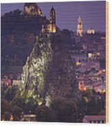 St-michel D'aiguilhe And Cathedrale Notre-dame Wood Print by Walter Bibikow