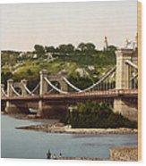 St Nicholas Bridge In Kiev - Ukraine - Ca 1900 Wood Print