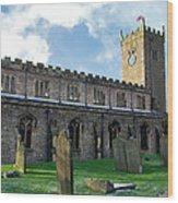 St Oswald's Church - Askrigg Wood Print