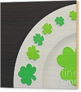 St. Patrick's Day Plate Wood Print